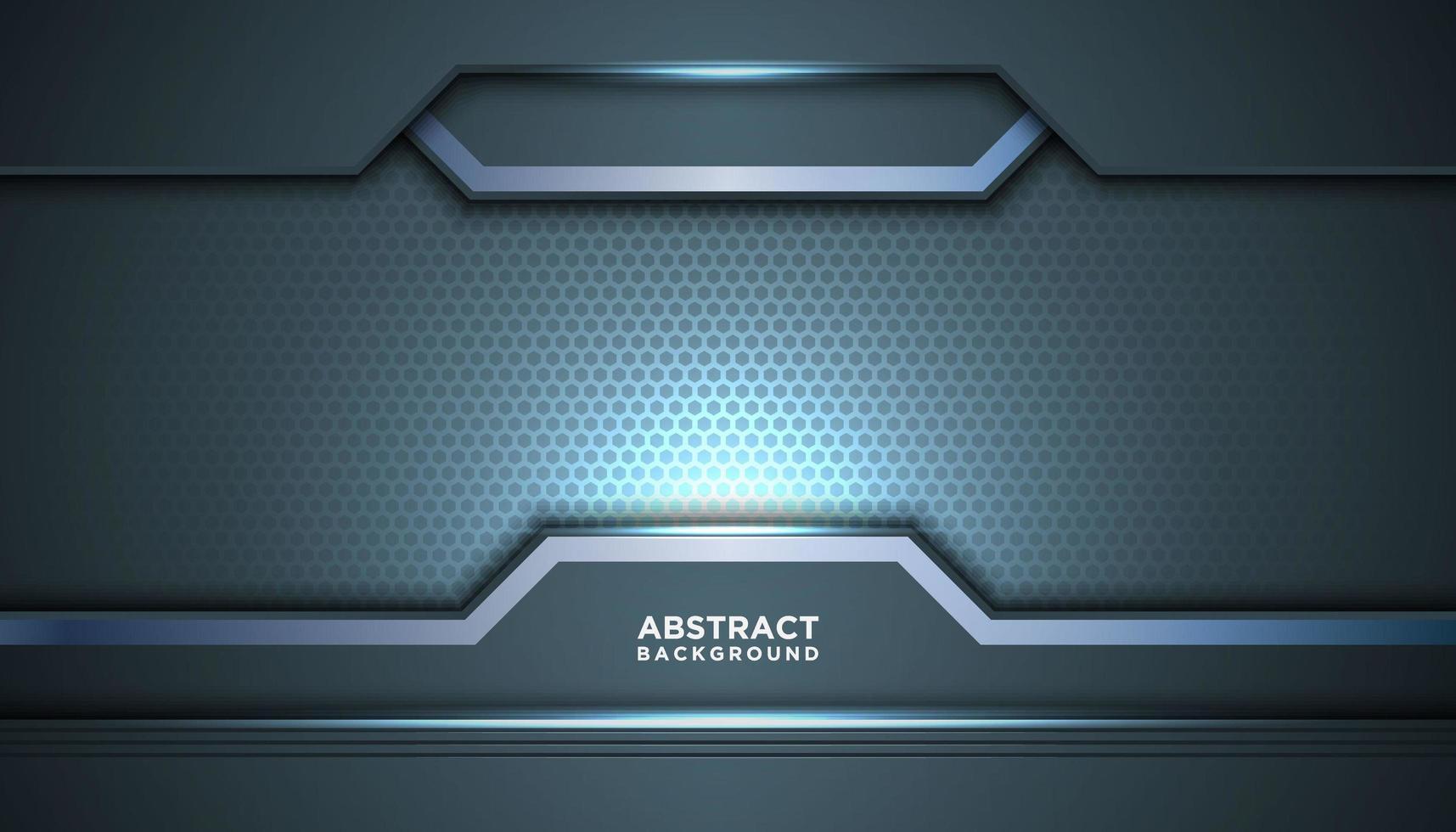 abstrakter grau-blauer Sechseck-Netzhintergrund vektor