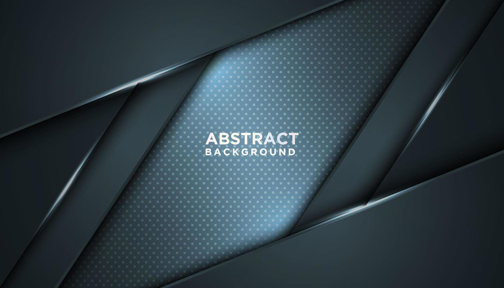 abstrakter grau-blauer Parallelogramm-geschichteter Hintergrund vektor