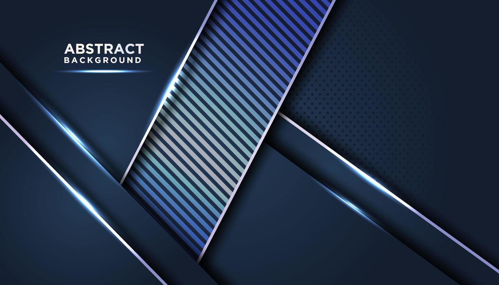 mörkblå abstrakta bakgrundsskikt med randig accent vektor