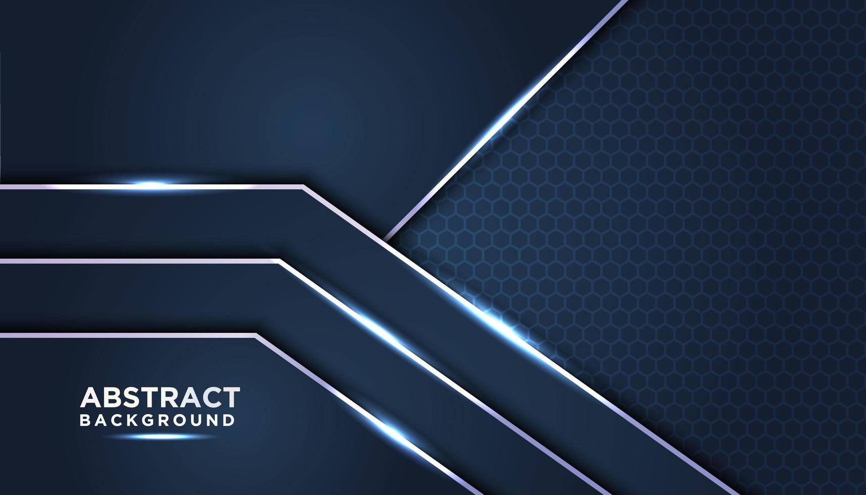 mörkblå lager med glödande blå ljusa accenter vektor