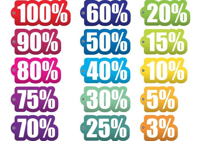 Prozent aus Tag-Vektoren vektor