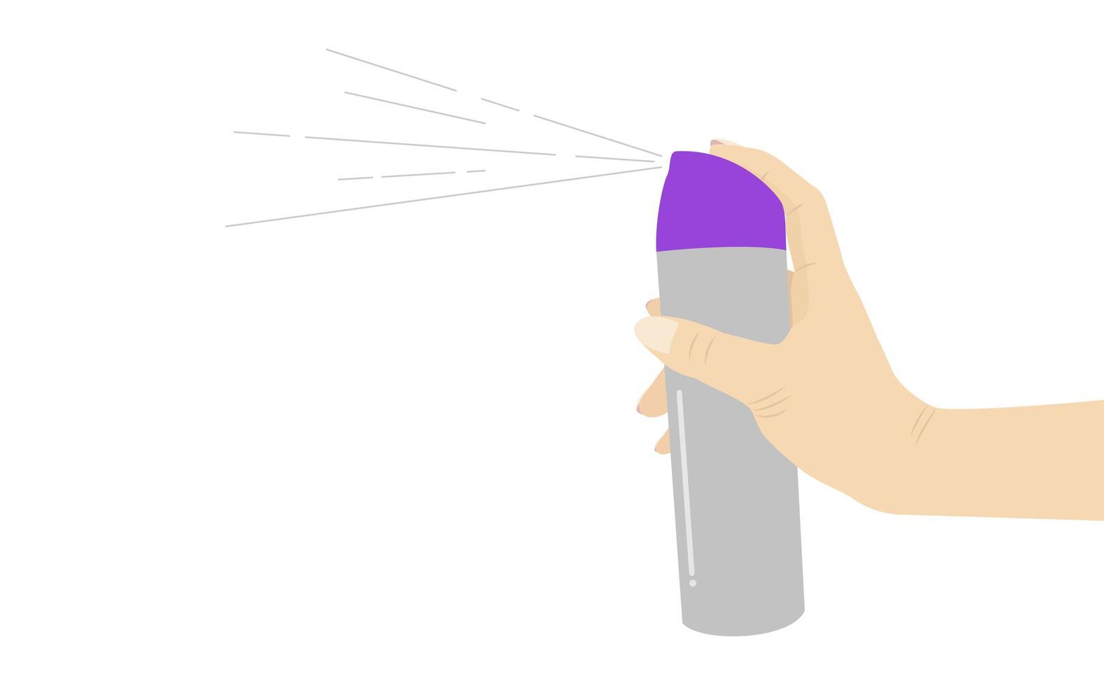 hand som håller sprayburk vektor