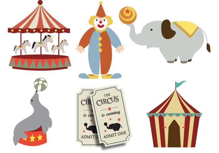 Zirkus kommt in die Stadt vektor
