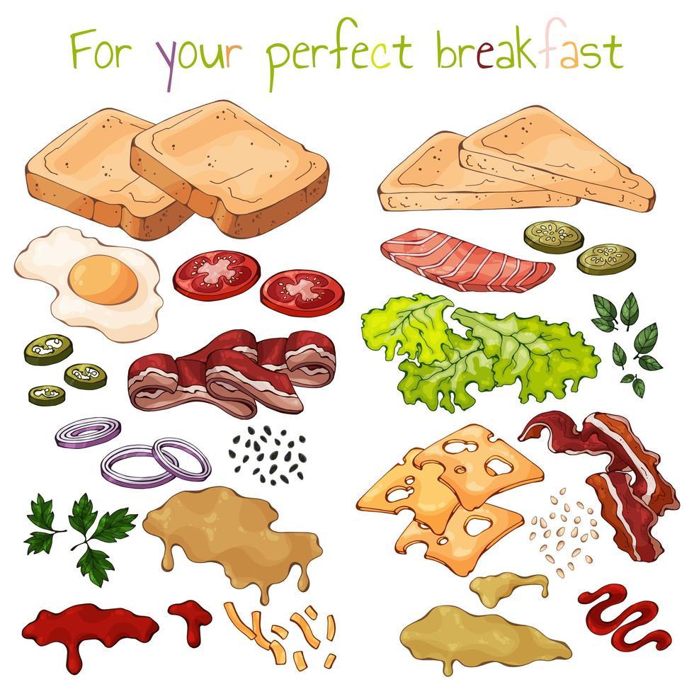 gör din egen smörgås vektor