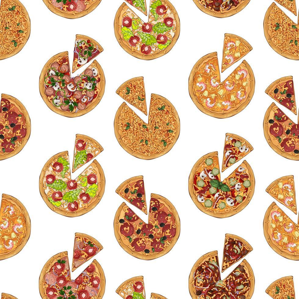 pizza skivmönster vektor