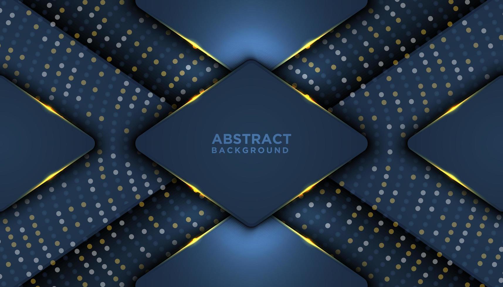 överlappande geometrisk 3d formar lyxbakgrund vektor