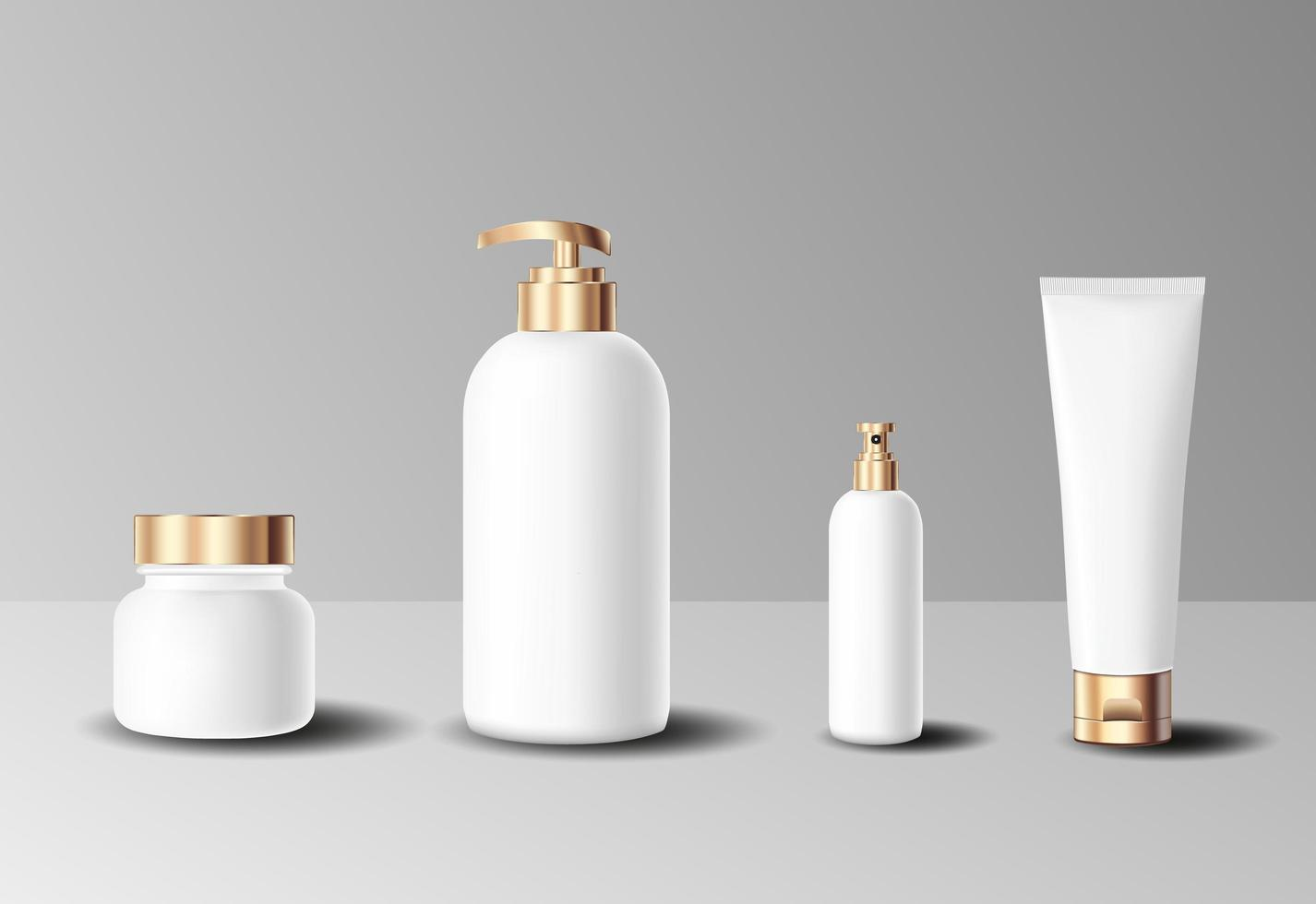 uppsättning realistiska kosmetiska flaskor vektor