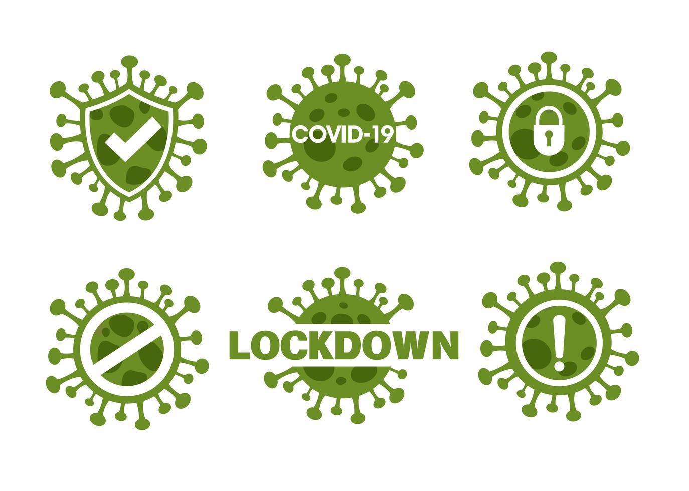 neuartiges Corona-Virus oder Covid-19-Icon-Set vektor