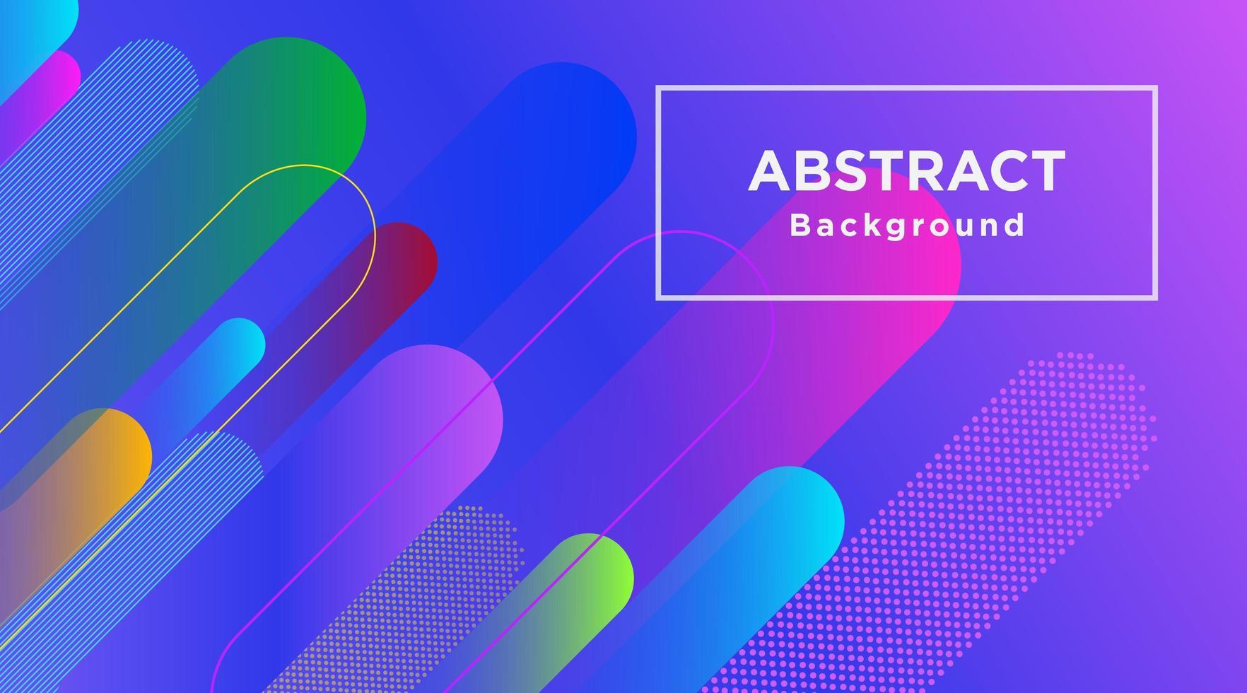 färgstark bakgrund med flera rundade ränder vektor