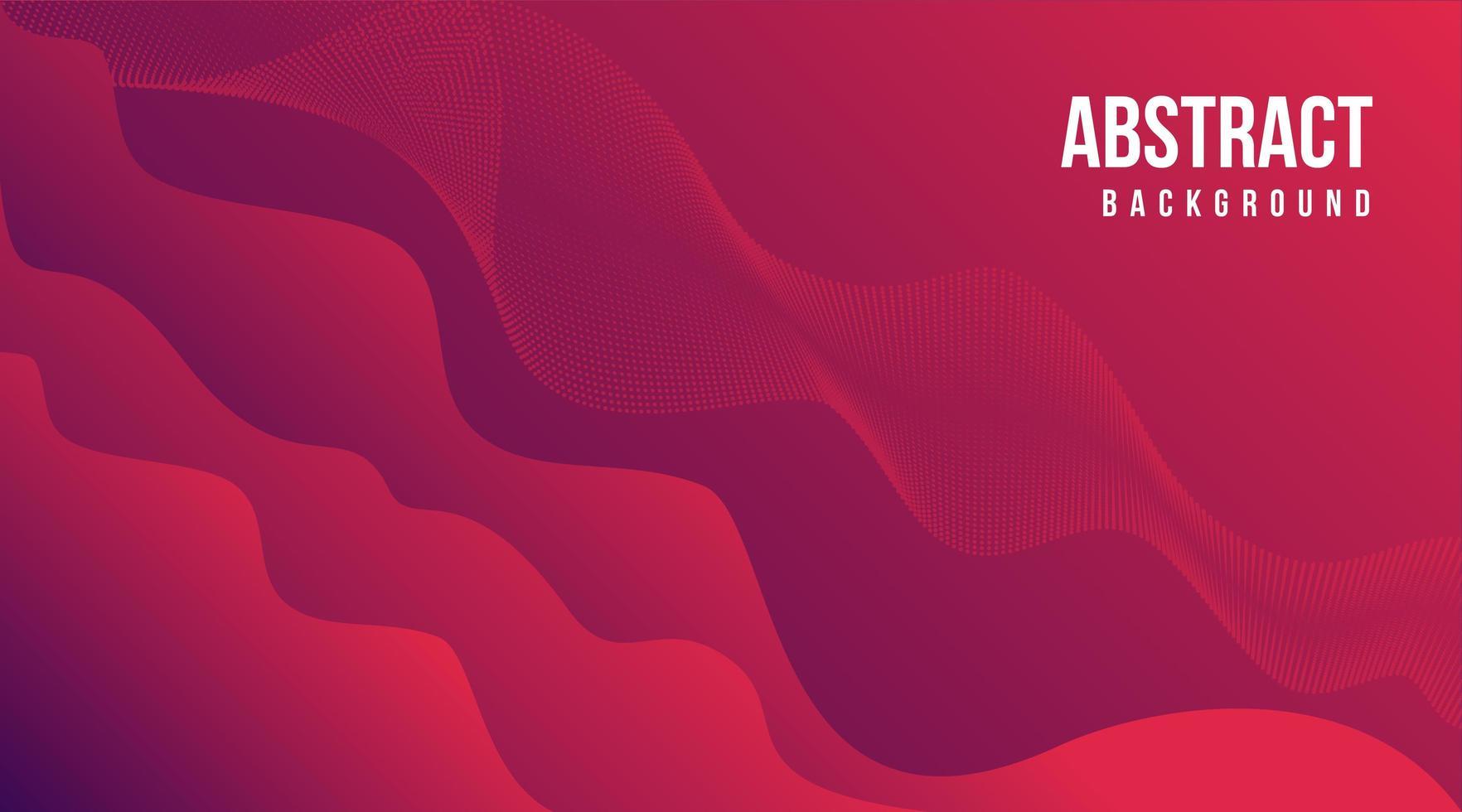 viftande flytande form bakgrund i röda toner vektor
