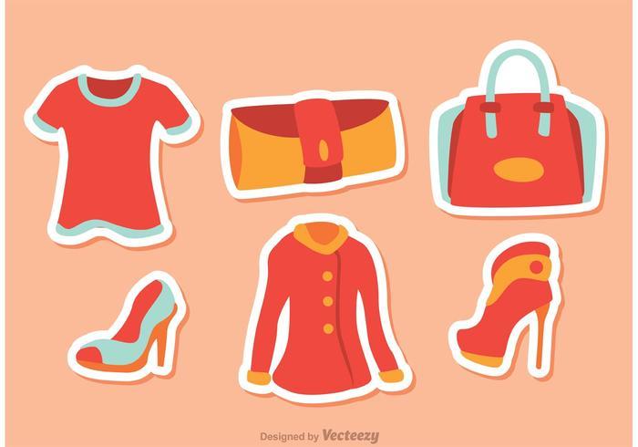 Mädchen Mode Vektoren Pack 3