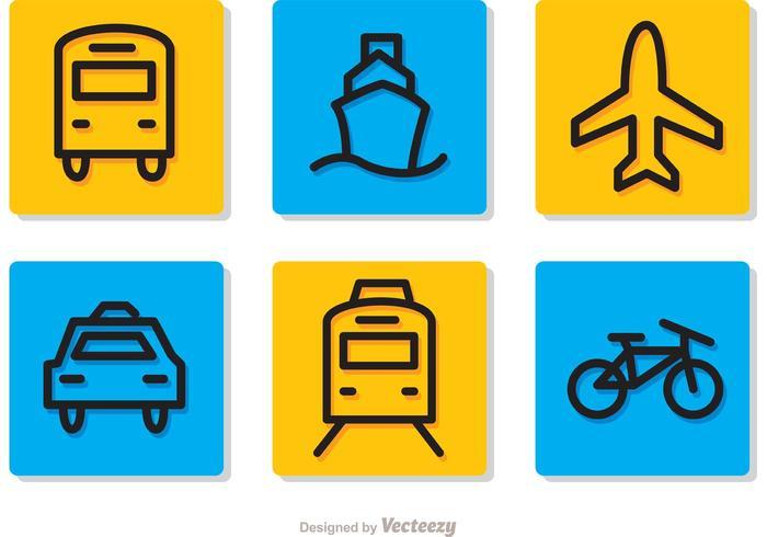 Transport Piktogramme Setzt Vektoren