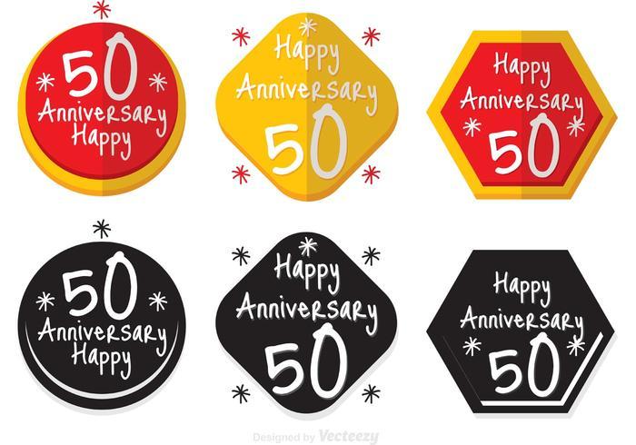 50. Jahrestagsabzeichen vektor