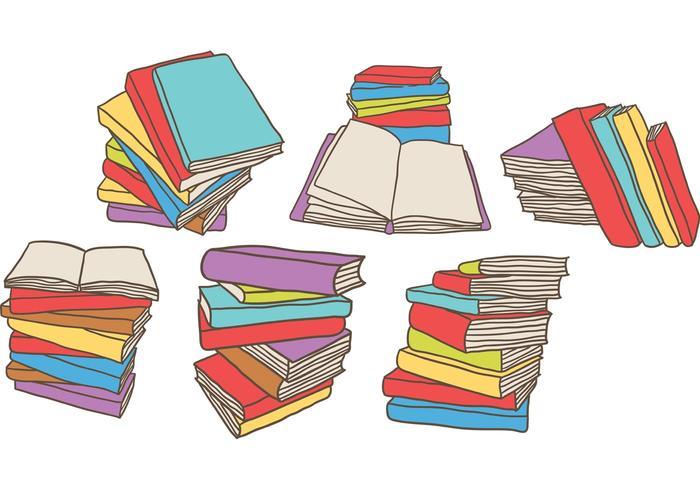 Kostenlose Stapel Bücher Vektoren