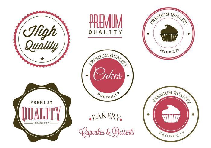 Freie Bäckerei-Etiketten und Logo-Vektoren vektor