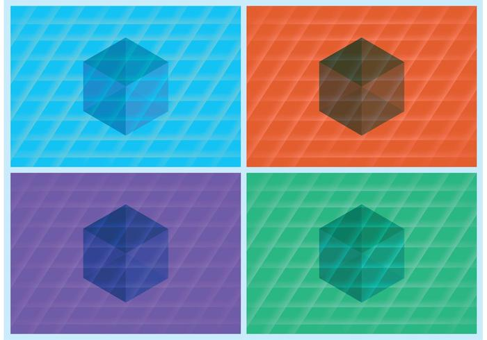 3D Cube Vektor Hintergründe
