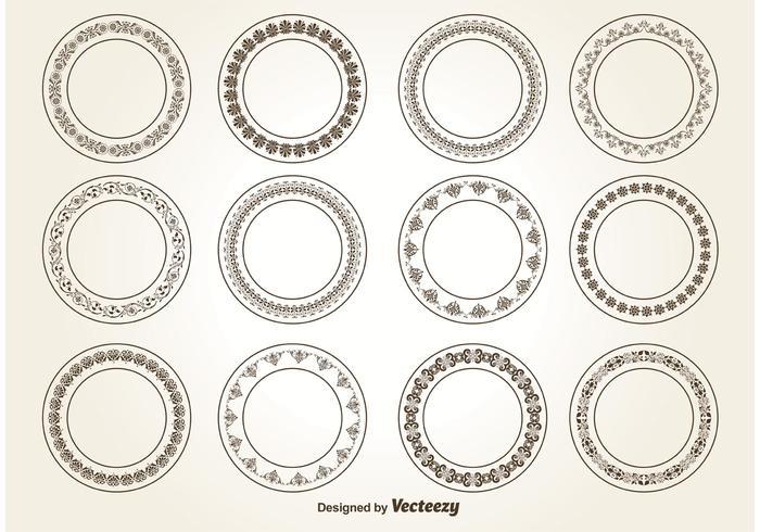 Dekorative Kreis Ornamente vektor