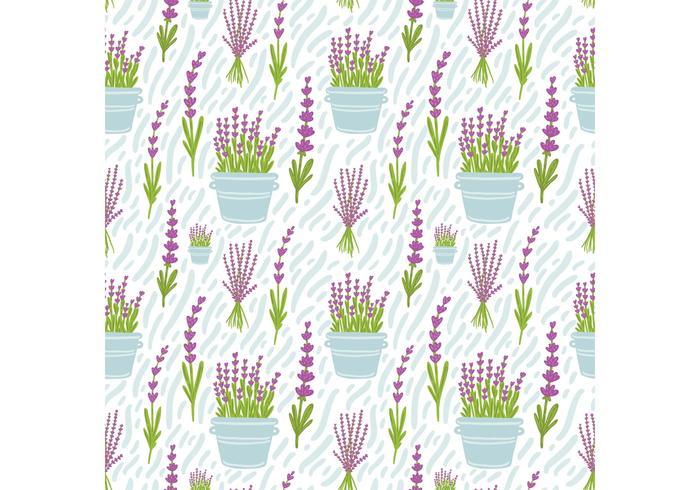Gratis Lavendelblomma Seamless Pattern Vector