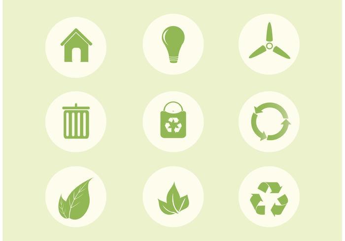 Free Vector Ökologie Icon Set