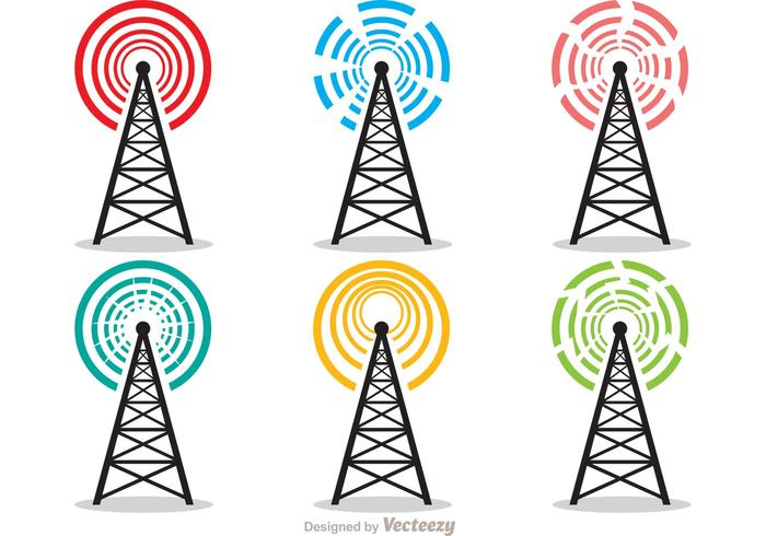 Cell Tower Vector Pack