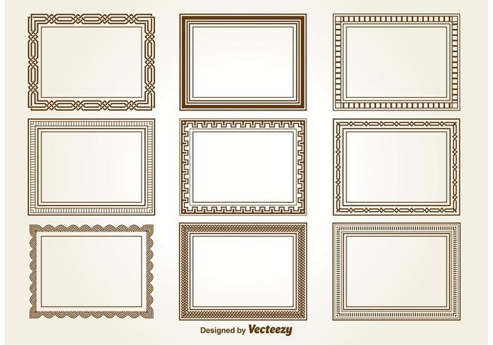 Dekorative quadratische Rahmen vektor