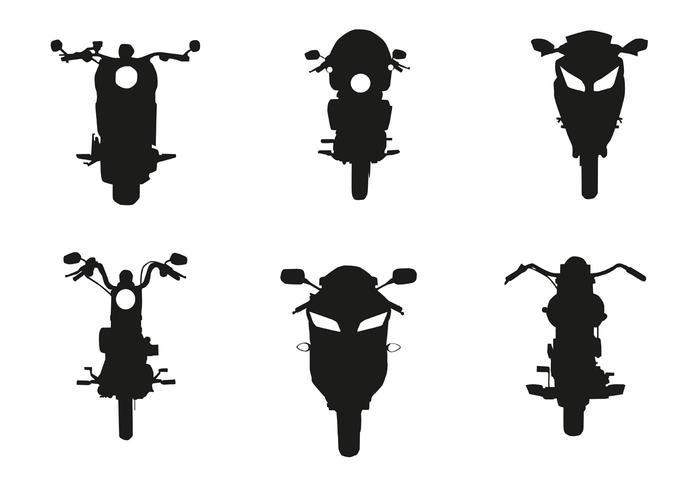 Vektor Motorcykel Fram Silhuett