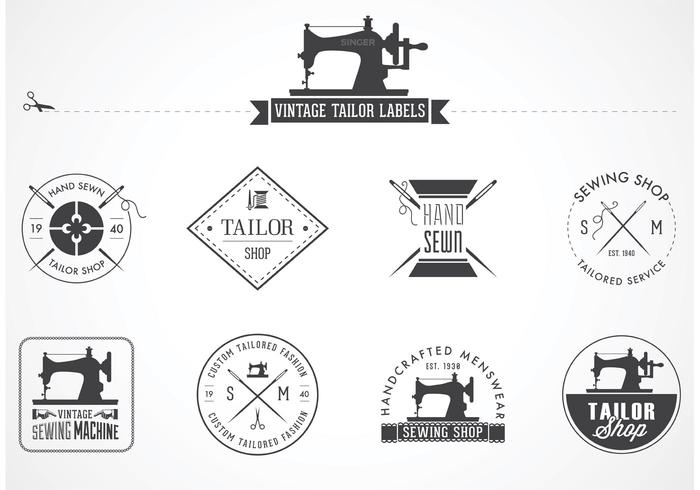 Gratis Vintage Tailor Vector Etiketter