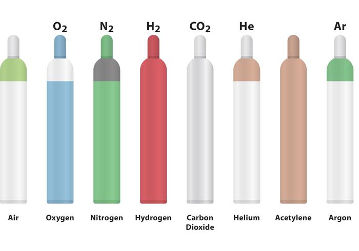 Gas-Zylinder-Vektoren vektor