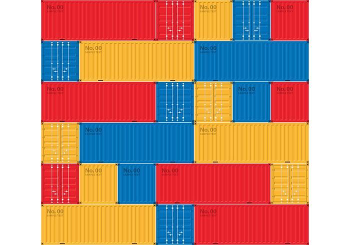 Container Ship Bakgrund vektor