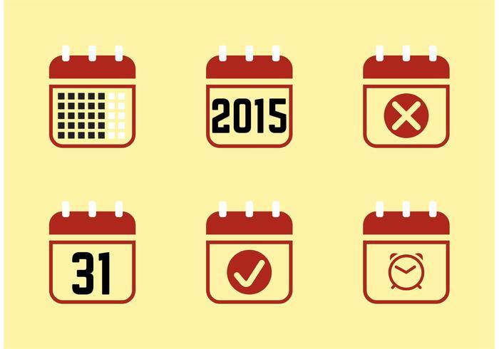 Kalenderio 2015 Ikoner vektor