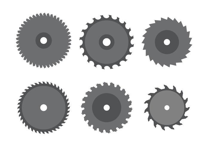 Kreissägeblatt-Set vektor