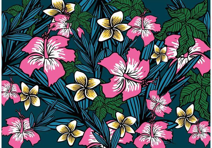 Polynesian Flower Background vektor