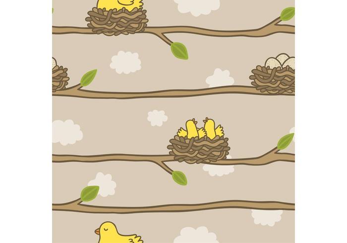 Gratis Bird in Nest Vector