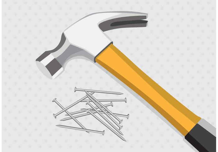 Hammer und Nagel Vektoren