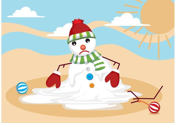 Melting Snow Man Vektor
