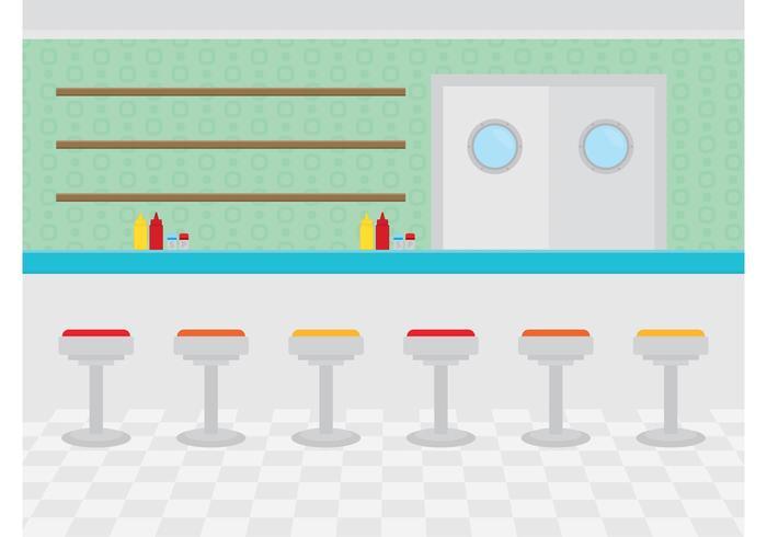 Restauranginteriör vektor