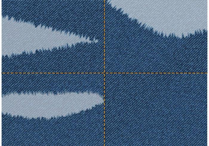 Free Vector Torn Jeans Stoff
