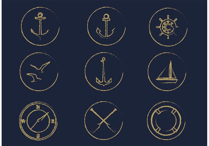 Free vector nautischen Icon-Set