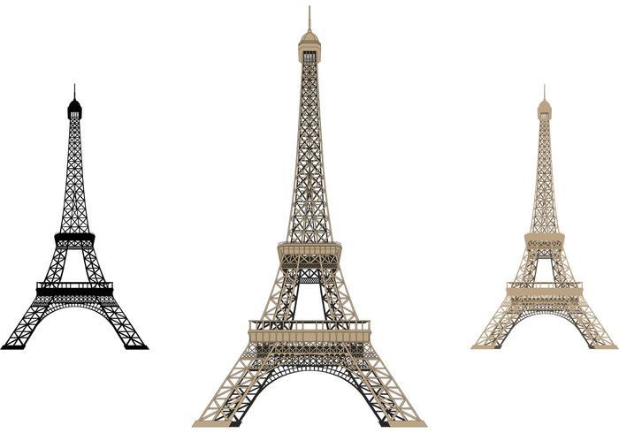 Eiffelturm isoliert vektor