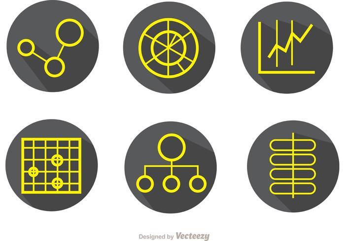 Stora data Simple Outline Ikoner Vector Pack