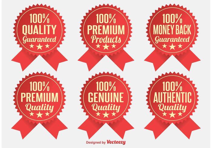 Premium-Qualitätsabzeichen vektor