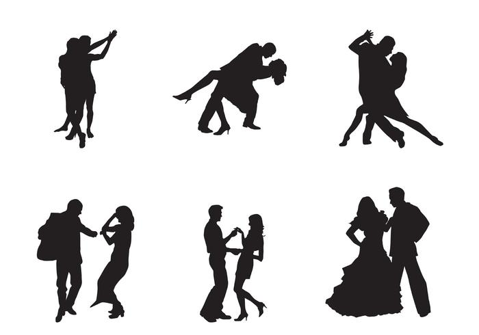 Freie vektor tanzenpaare