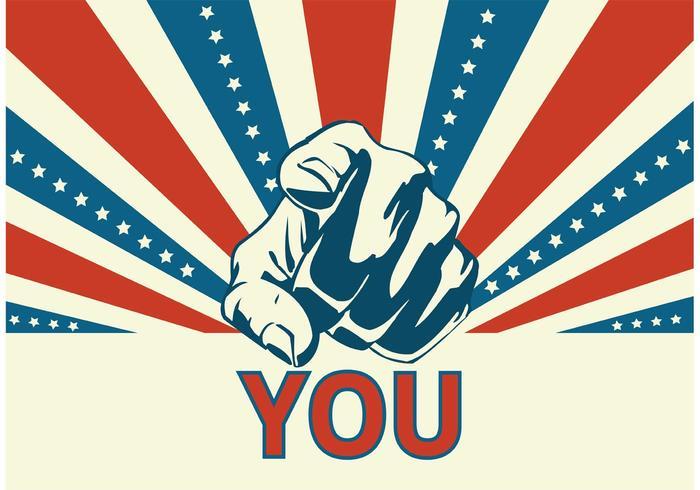 Free Vector Uncle Sam's Zeigen Hand