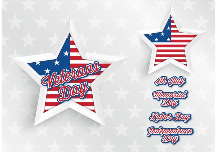 Free Vector Abstract USA Star Hintergrund