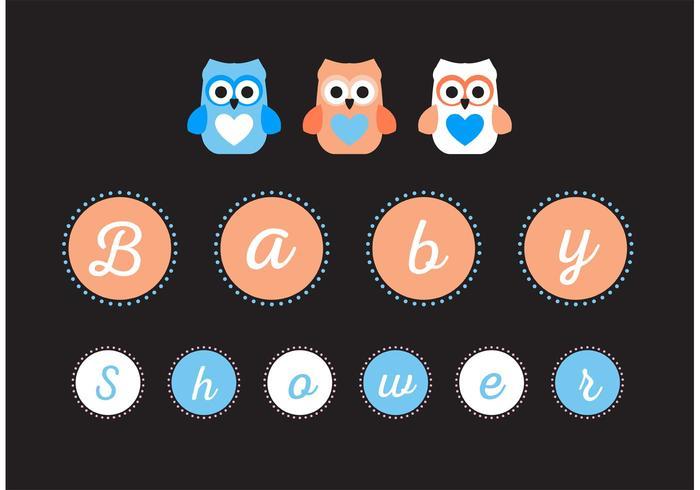 Baby-Dusche Zeichen Vektor