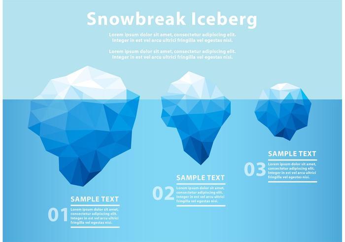 Polygonalt isberg under vatten vektor