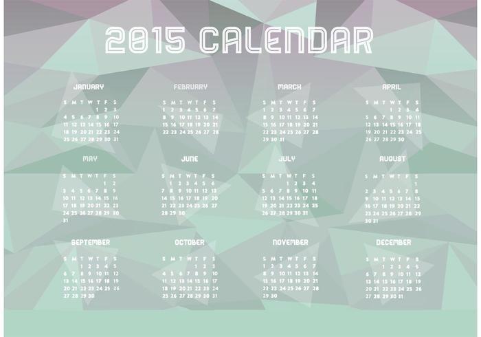 Polygonal 2015 Kalender vektor