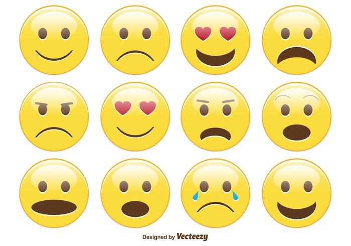 Söt Smiley / Emoticon Set vektor
