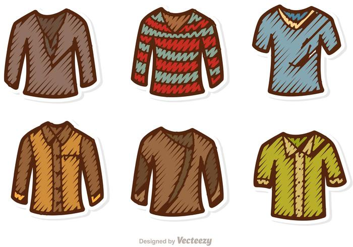 Mann-Shirt-Vektoren packen vektor