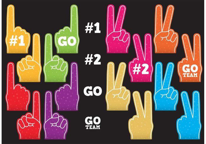 # 1 Foam Finger Vektoren